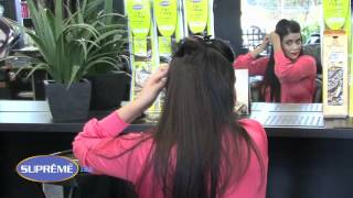 Supreme How to put on Prota organic clip on extensions.