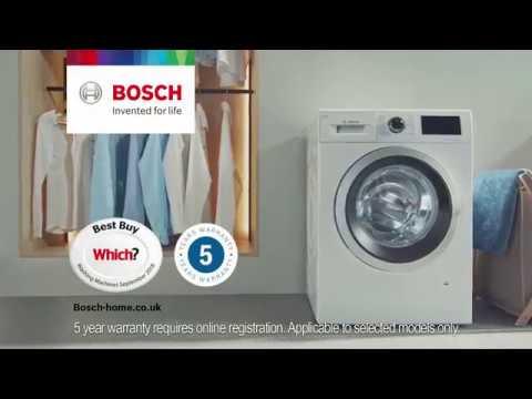 Bosch Freestanding Washing Machine WAU28PH9GB - White Video 2