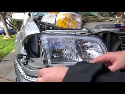 "Replacing the Headlight ""Glass"" & Turn Signal on a 1994-2000 Mercedes W202 C230"