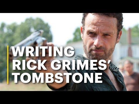 Rick Grimes' Tombstone Written By 'The Walking Dead' Cast