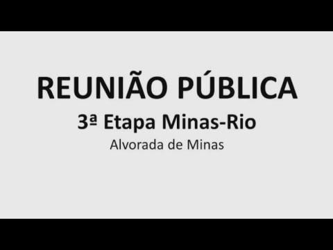 Reunião pública em Alvorada de Minas (MG) - Etapa 3 do Minas-Rio