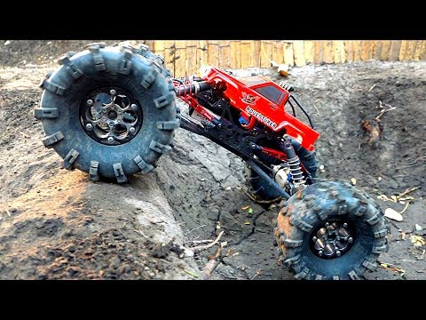 MASSIVE TIRES + Toyota Body ='s a MONSTER TRUCK! MOA in the Backyard Scale Park | RC ADVENTURES