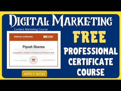 Free Digital Marketing Course With Professional Certification ...