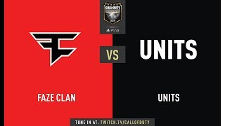 Faze Clan vs UNITS | CWL Champs 2019 | Day 2