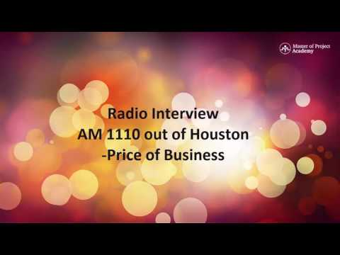 , title : 'Master of Project Academy - Radio Interview at AM 1110 out of Houston'