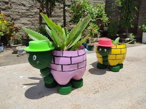 Jardim com reciclagem