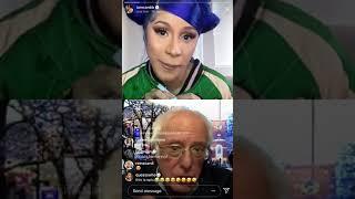 Cardi B live with Bernie Sanders (04.14.2020)