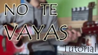 """Cómo tocar """"No te vayas"""" Nicky Jam en Guitarra. TUTORIAL FÁCIL"""