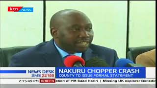 Nakuru governor, Lee Kinyanjui meeting the families of the victims of Nakuru chopper crash