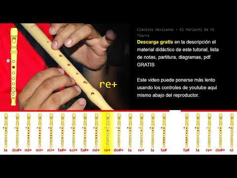 Tutorial Flauta Dulce Clasicos Mexicanos - El Mariachi De Mi Tierra