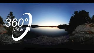 FAR NORTH ALGONQUIN CANOE TRIP - 360° VR VIDEO - DAY 3 - ERABLES LAKE AT DUSK! (4K)