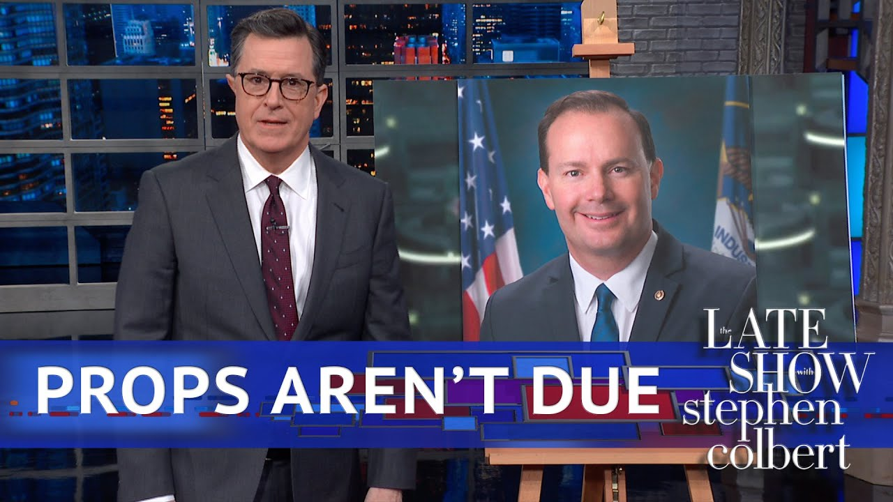 Colbert Gives Mike Lee The Mike Lee Treatment thumbnail