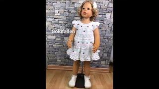 Goldfaden Мастер класс Платье для малышки крючком #1 Вязание