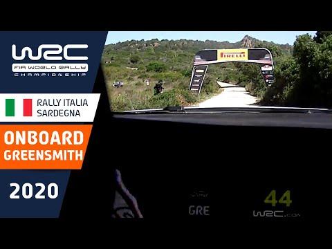 WRC ラリー・イタリア・サルディニア グリーン・スミスがドライブするM-Sportsシェイクダウンのオンボード映像