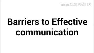 Barriers of communication in English and hindi