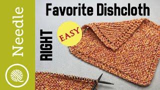How To Knit | Grandmas Favorite Dishcloth - Beginner (Right Handed)