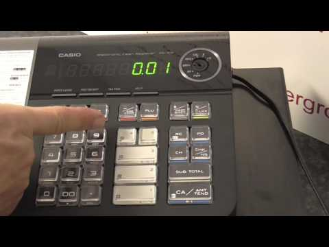 Casio SE-S10 How to do a basic cash sale