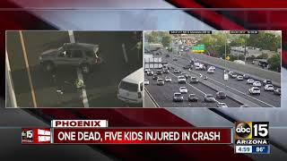 One woman dead, 5 kids injured in Interstate 17 crash