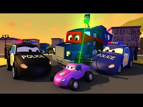 Carl Super Ciężarówka -  Samochody Policyjne - Mieście Samochodów ???? ⍟ Bajki Dla Dzieci