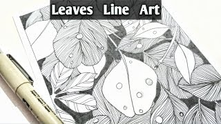 Leaves Line Art | Pen Illustration | Doodling