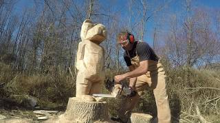Chainsaw Carving Bears