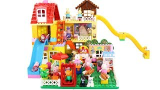 Peppa Pig Blocks Mega House Construction Sets - Lego Duplo House Creations Toys For Kids #7