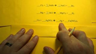 Balancing Chemical Equations (Single Replacement Reactions)