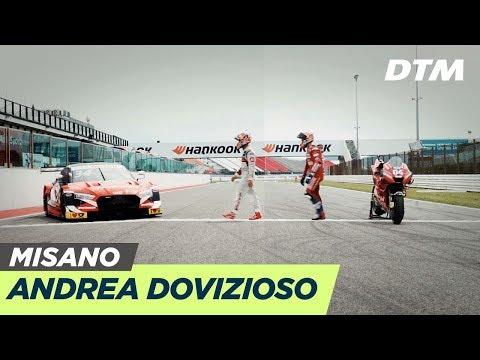 Andrea Dovizioso steigt von 2 auf 4 Räder um | DTM Misano 2019