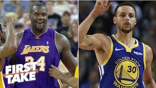 Shaq's 2001 Lakers vs Steph's 2018 Warriors: Who would win? | First Take stephen a