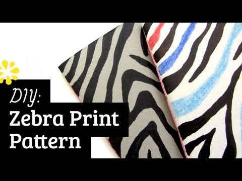 How to Draw Zebra Print Pattern | Sea Lemon