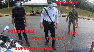 Superbike Top Speed highway kosong, kena tahan polis traffic dengan askar, tambah 14 hari lagi PKP