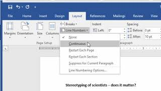 Inserting Line Numbers into Word documents