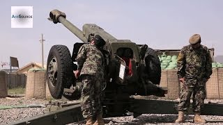 Afghan National Army D-30 122mm Howitzer Training