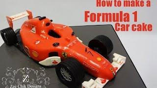 How to make a formula 1 car cake