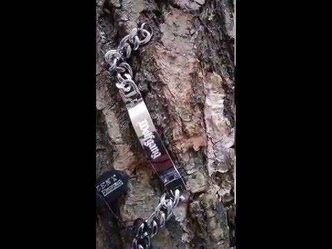 ID Armband mit Diamantgravur Edelstahl 19 cm
