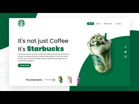 Starbucks Landing Page Website Design using Html CSS & Javascript | Step By Step Web Design Tutorial