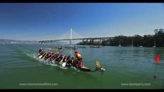 Dragon boat race 100% by drone