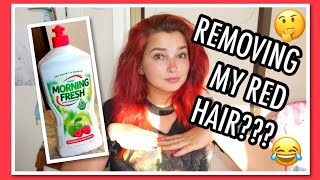 Using Dishwashing Liquid to Remove my Red Hair   Cerise1307  