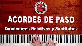 Acordes de Paso Dominantes de Piano en las Progresiones Armónicas.