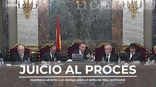 Marchena Advierte A Un Testigo Sobre El Delito De Falso Testimonio Y Da Una Lección De Derecho Penal