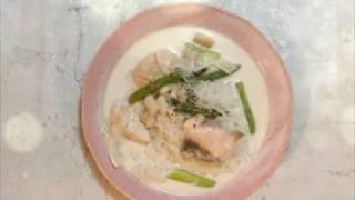宝塚受験生のダイエットレシピ〜鮭とアスパラの白滝パスタ〜のサムネイル画像