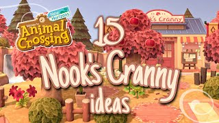 15 Ideas for Your Nook's Cranny — Shopping District // Animal Crossing: New Horizons