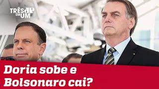 Aprovação da Coronavac impacta índices de Doria e Bolsonaro