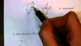 Unit 5 Review 1 Numbers 8, 9 Special Right Triangles