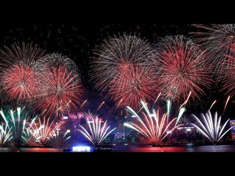 LIVE New Year Eve 2019 Fireworks • Coutdown From Around The World !