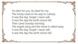 Brian McKnight - The Day the Earth Stood Still Lyrics