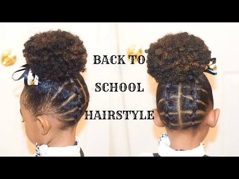 KIDS NATURAL HAIRSTYLES: THE PLATTED UP DO(Back To School)