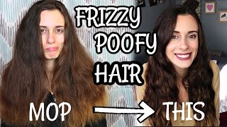 HOW TO MANAGE CRAZY, FRIZZY, POOFY HAIR! My NO HEAT Hair Care Routine & TIPS!