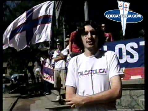 """Talcatolica Sangre Cruzada"" Barra: Los Cruzados • Club: Universidad Católica"