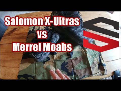 Salomon X Ultra vs Merrell Moab Gear Review
